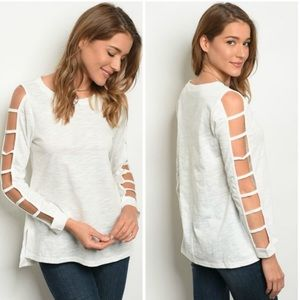 3 FOR $40 • Lightweight Ladder Sleeve Top